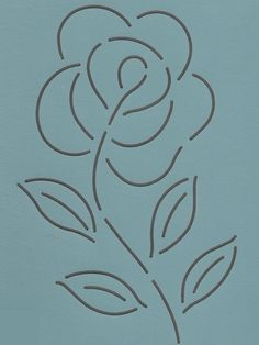 "Rose Block 5"" - The Stencil Company"