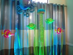 Under the sea party - used fishing line to hang the fish so they look like they are swimming