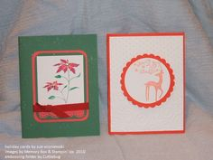 holiday cards using embossing folders and layered with cardstock.  stamping sue  http://stampingsueinconnecticut.blogspot.com/