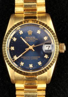 A Rolex 18ct yellow gold Oyster Perpetual Datejust bracelet watch