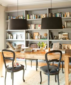 Stunning Library Room Design Ideas With Eclectic Decor Stunn. Stunning Library Room Design Ideas With Eclectic Decor Stunning Library Room De Cozy Home Office, Home Office Space, Home Office Design, Home Office Decor, Office Furniture, Home Decor, Office Room Ideas, Office Designs, Dining Room Office