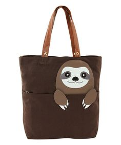Look what I found on #zulily! Brown Peeking Baby Sloth Tote by Sleepyville Critters #zulilyfinds