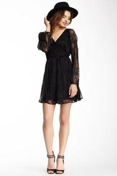 """black embroidered dress"""