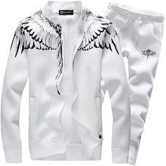 Bekleidung, Herren, Streetwear, Trainingsanzüge Hoodie Sweatshirts, Suits Korean, Suit With Jacket, Jogging, Feather Fashion, Track Suit Men, Streetwear, Mens Fashion Suits, Mens Suits