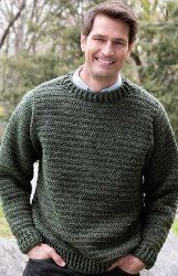 Give him a gift he will love this year for Father's Day. The Simple Sweater for Him is an easy crochet pattern to complete with a stylish ribbed pattern. It's a classic crew neck sweater that can be worn almost anywhere.