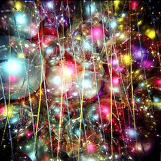 It's like bubbles, sparkles, and Christmas ornaments got together and had a party!