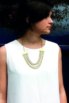 Just Trade - Just Trade Triangle Cascade Necklace - Fair Trade £14.95
