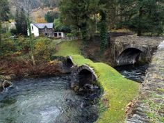 17th century pack horse bridge over the River Dovey.