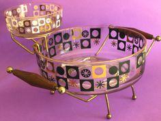 Vintage Mid Century Atomic Starburst Gold Black by FunkyKoala