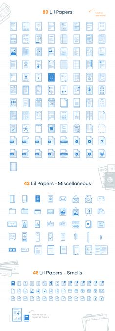 Lil Papers - 176 paper icons by Lil Squid on Creative Market