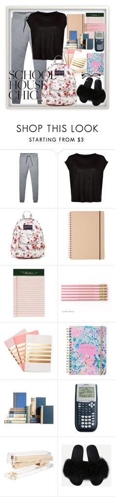 """""""Library Chic"""" by ctgregory ❤ liked on Polyvore featuring Tommy Hilfiger, JanSport, StudioSarah, Lilly Pulitzer and Kate Spade"""