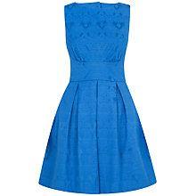 Buy Closet Jacquard Cut-Out Back Dress, Blue Online at johnlewis.com