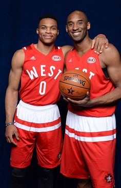 2a4a33c625 Russell Westbrook and Kobe Bryant - All-Star Weekend 2016. Thunder  PlayersKobe Bryant NbaRussell ...