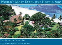 World's most expensive hotels & resorts : Wakaya Club, Fiji