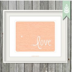 Printable Wood Art Print - Pink Love Print - 8x10 Art Print - INSTANT DOWNLOAD by greenoriginals on Etsy