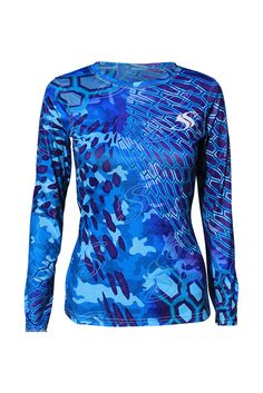 The women's SS cycloid shirt is one of a kind with an awesome pattern. Fish, swim, run or hike it will keep you protected.