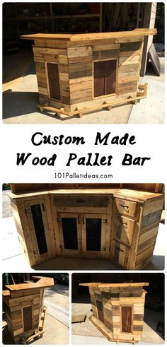 Custom Made Wood Pallet Bar | 101 Pallet Ideas