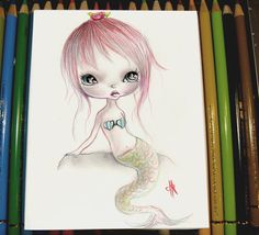 Mini original painting on paper' by ppinkydollsart on Etsy, $12.00