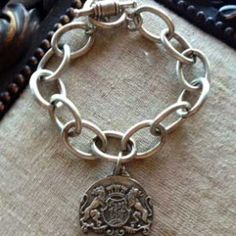 French Kande Antiqued Silver Cable Bracelet from Sage.