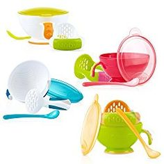 Painstaking Nuby Sure Grip Bowl Traveling Feeding Sets