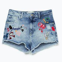 stylettitude: three summer fashion trends all about and to rethink about Fashion Wear, Denim Fashion, Kids Fashion, Girls Denim Jacket, Girls Jeans, Short Jeans, Short Niña, Baby Jeans, Denim Shorts Outfit