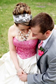 bETHY CHECK THIS OUT!! Bridal Veil Headband french veil lace pearl by AudaciousApproach, $55.00