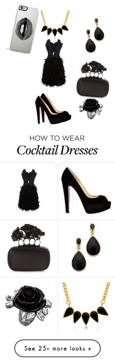 """""""Untitled #108"""" by prettyfashionista03 on Polyvore featuring Marchesa, Christian Louboutin, Kenneth Jay Lane, Alexander McQueen, George & Laurel and Lipsy"""