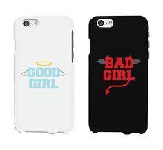 Bad Girl Good Girl White And Black Cute BFF Mathing Phone Cases Gift