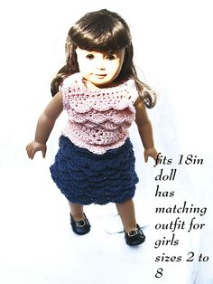Ravelry: Doll Skirt and Top pattern by Sandy Powers