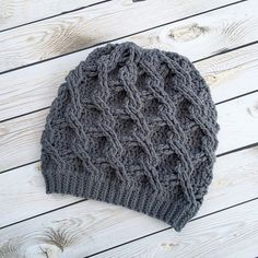 Melissa's Crochet Designs: Chain Link Slouch pattern by Crochet by Jennifer
