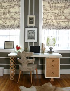 Perfect retro-modern home office space