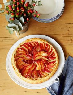 Apple tart with caramel ice cream | Sainsbury's Magazine