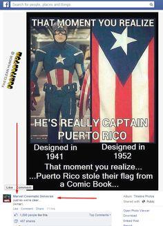 The Captain America/Puerto Rico pic  ANDMarvel's majestic response. lol #funny #CaptainAmerica #Marvel