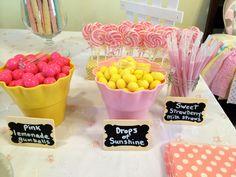 Lemonade and sunshine candy bar