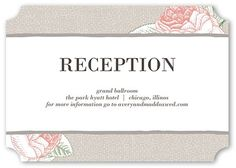 Fine Foliage Wedding Enclosure Card, Ticket Corners, Beige