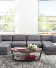The modular sofa we ordered from Macy's. For $1,999, we have 6 pieces and endless possibilities.