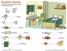 Worksheets: Position Words