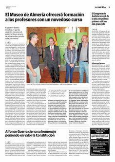 El Museo de Almería ofrecerá formación a los profesores con un novedoso curso. Ideal de Almería, 24.10.15