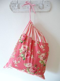 Shabby Chic Laundry Bag Lingerie Bag Roses and by PeriDotbyDuni, $25.00
