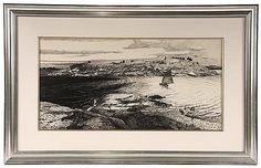 Ink Drawing 'In the Georges Islands', Andrew N Wyeth