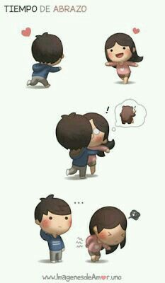 HJ Story - I get too excited to hug her sometimes T_T For. Hj Story, Cute Love Cartoons, Cute Cartoon, Cute Love Stories, Love Story, Anime Chibi, Chibi Cat, Anime Amor, Cute Romance