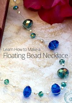 How to Make a Floating Bead Necklace #Beading #Jewelry #Tutorials