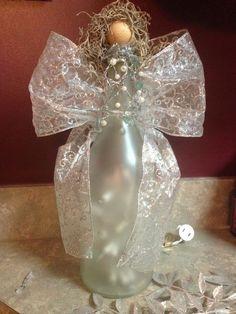 Wine bottle angel: