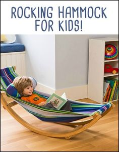 There's nothing quite like kicking back in a hammock, and now little ones can delight in that comfort in any space! #diywoodprojectsforkids