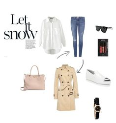 """""""Let It Snow"""" by charolyna on Polyvore featuring Burberry, Frame Denim, Prada, Miu Miu, Marc by Marc Jacobs, Givenchy and NYX"""