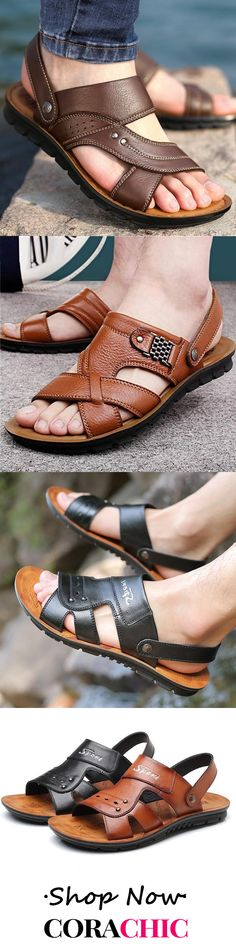Beach Sandals, Mansion, Leather Sandals, Men's Clothing, Casual Shoes, Slippers, Footwear, Comfy, Mens Fashion