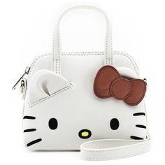 6a7095ede New LOUNGEFLY Crossbody Bag SANRIO HELLO KITTY Handbag Purse White Face Head