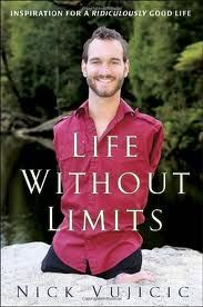 """This book called """"Life without Limits"""" is written by Nick Vujicic who was born without limbs. It talks about his struggles and acceptances of his disabilities and how he was able to realize and live a life of fulfillment and happiness by accepting what he could not control and focus on what he could. This book could inspire Tilman to better cope with his disability as he lost his beloved leg during the war, as well as prove to him that he can still have a full and happy with one leg.- Chris"""