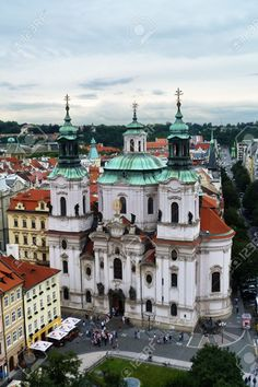http://www.123rf.com/photo_35002094_top-view-of-the-church-of-st-nicholas-of-old-town-in-prague-czech-republic.html