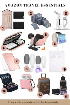 international travel must haves products ~ travel must haves international ` must haves for international travel ` international travel must haves products Road Trip Packing, Packing Tips For Travel, Travel Bags, Travel Ideas, Dog Travel, Best Travel Backpack, Packing Cubes, Packing Lists, Travel Stuff